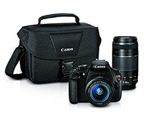 Canon EOS Rebel T5 Digital SLR Camera – Takes nice pictures and is easy to use